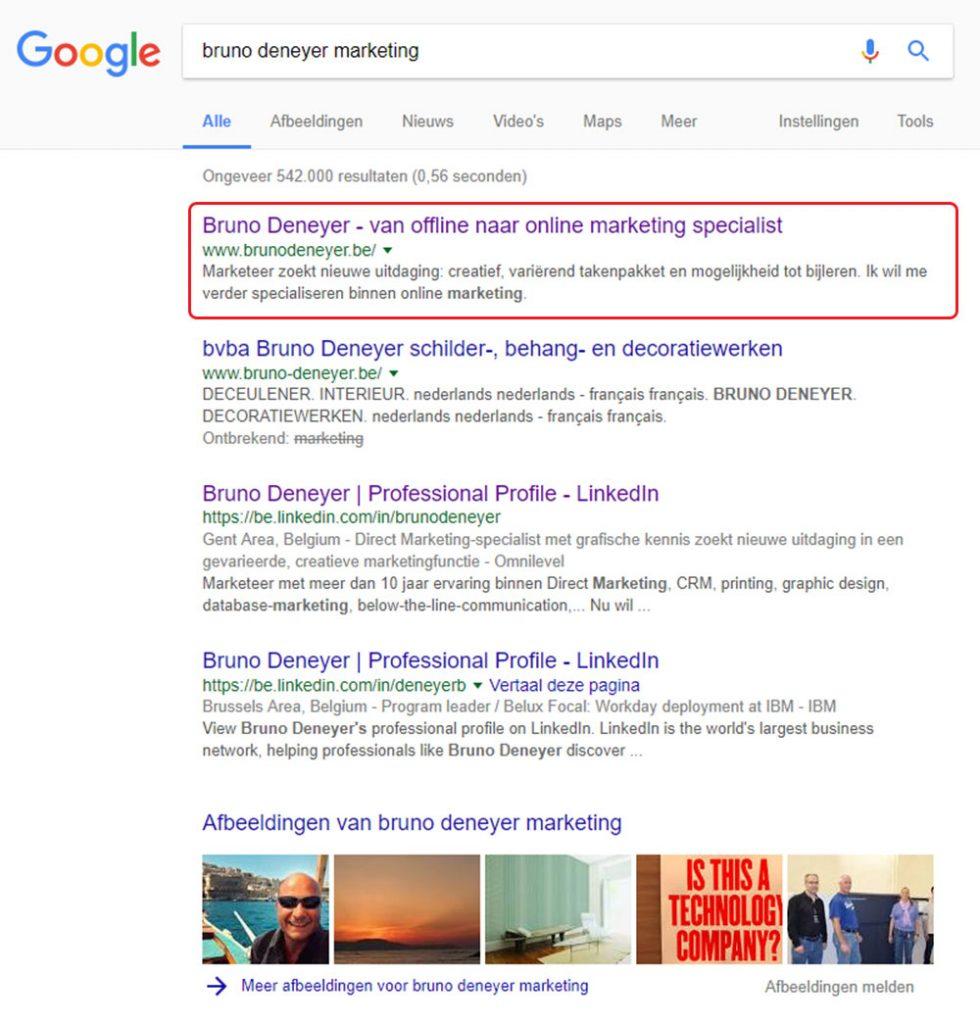 Bruno deneyer online marketing SEO aalst gent