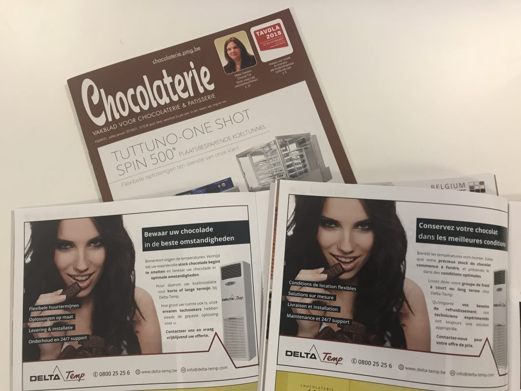 advertentie magazine chocolaterie deltatemp koeling
