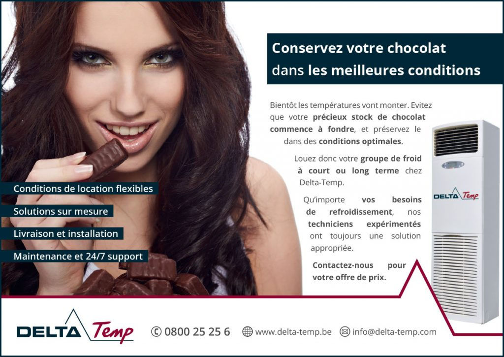 Advertentie vakmagazine Chocolaterie
