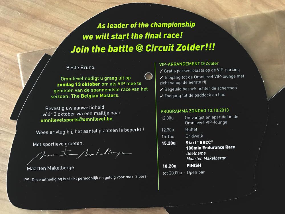 Zolder 2013 - Customer event